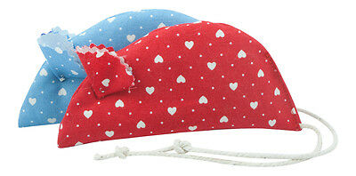 Molly's Mice Hearts Pack of 2 Catnip Mice- Red and Blue