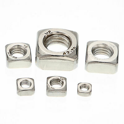 Metric Thread 304 Stainless Steel Square Nut Fastener Nut Screw Nut M3 To M10