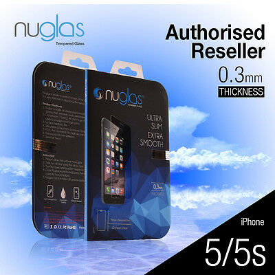 Genuine Nuglas Tempered Glass Screen Protector for iPhone 5 5S SE 5C