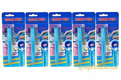 5 Pack Counterfeit Money Detection Pen UV Marker Fake Dollar Bill Currency Check