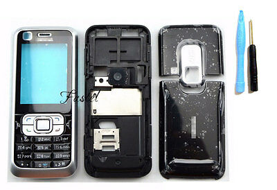 body housing cover case keypad For Nokia 6120c 6120 classic replacement black
