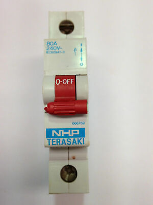 NHP TERASAKI EC60947-3 Isolating Isolator Switch 666769 1 Pole 240V 80A