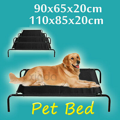 Large Heavy Duty Pet Dog Elevated Bed Trampoline Hammock Canvas Cat Puppy Cover