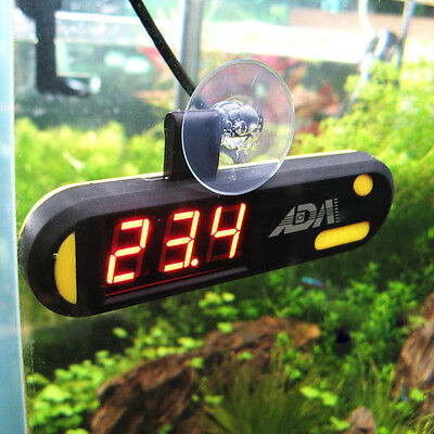 Digital USB Aquarium Submersible Thermometer Meter LED Display With Sucker BLS