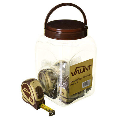 VAUNT 20002 5m/16ft Tape Measures Pack of 5