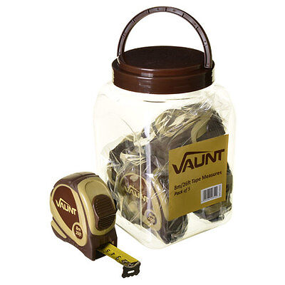 VAUNT 20004 8m/26ft Tape Measures Pack of 5