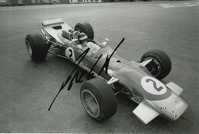 Jackie Oliver Hand Signed Lotus Formula 1 6X4 Photo 1.