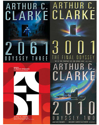 Arthur C. Clarke Collection Odyssey 4 Books Set Pack 2001: A Space Odyssey NEW