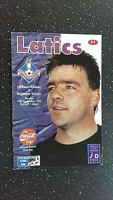 Oldham Athletic V Tranmere Rovers 1996-97