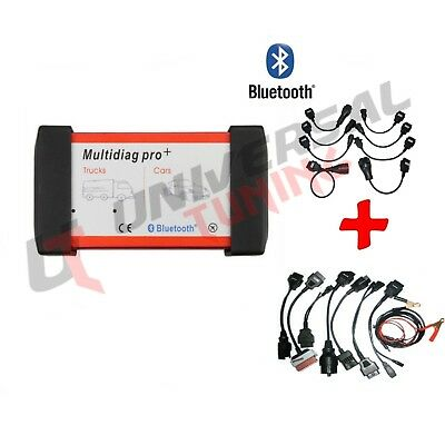 Auto Diagnosi Professionale Multimarca 3In1 Auto Camion 2015 Bluetooh + Cavi Ful