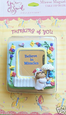 Believe in Miracles Refrigerator Magnet Mirror You're Special Hallmark c1999 NIP