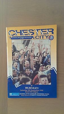 Chester City V Burnley 1992-93