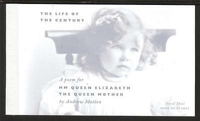 Gb 2000 Dx25 Life Of The Century - Poem For The Queen Mother Prestige Booklet