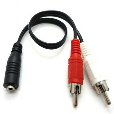 AUX Audio Cable Splitter Stereo Female to Male RCA Jack Adapter 3.5mm Plug Jack