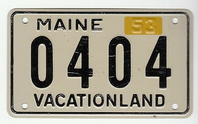 "[56098] 1953 General Mills Cereal Prize Maine License Plate ""vacationland"""