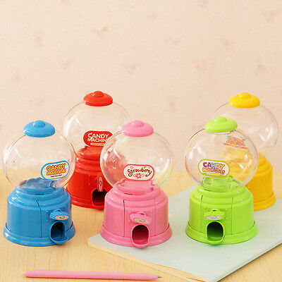 New Cute Sweets Mini Candy Machine Bubble Gumball Dispenser Coin Bank Kids Toy