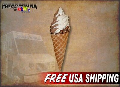 "Banana Splits Decal 8/"" Ice Cream Soft Serve Cart Stand Concession Food Truck"