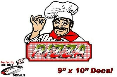 PIZZA CHEF 9''x13'' Decal for Pizza Restaurant or Concession Trailer