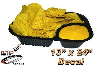 Nachos and Cheese 13''x24'' Decal for Hot Dog Cart or Concession Stand Menu Sign