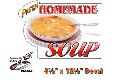 Homemade Soup 8.5''x12.5'' Decal for Lunch Truck or Coffee Wagon Menu Sign Board