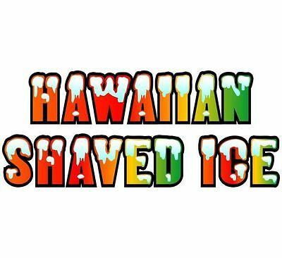 Hawaiian Shave Ice 5''x48'' Decal for Shave Ice Stand - Shaved Ice Trailer