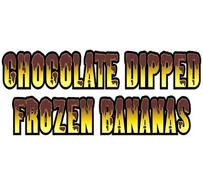 Chocolate Dipped Frozen Bananas (WORDING)  5''x48'' Decal for Concession Trailer