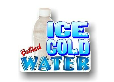 Bottled Water 9''x10'' Decal for Concession Trailer Sign or Hot Dog Cart Banner