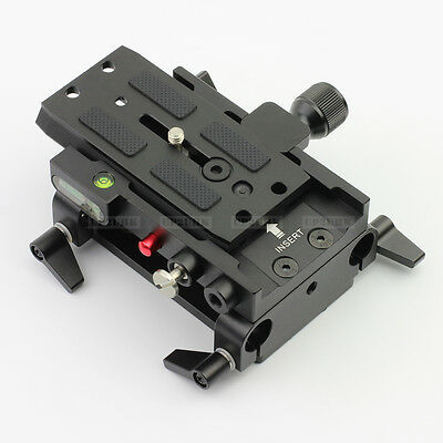 Dovetail Quick Release Baseplate fr DSLR Rig FF Mirrorless Camera LWS A7s GH4 5D