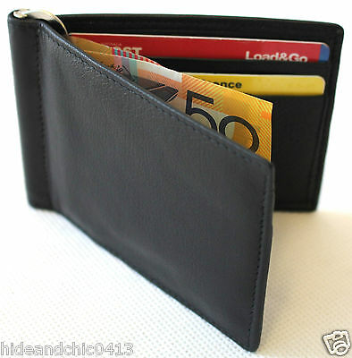 RFID Security Lined Full Grain Leather Money Clip. Bargain Wholesale Price.11030
