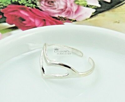 925 Sterling Silver Hearts Toe Ring