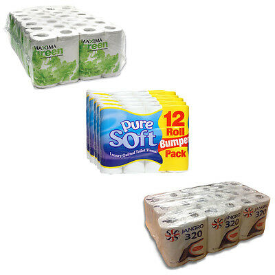 Branded Bulk Toilet roll's from £0.26p each ! Jango, Maxima & PureSoft