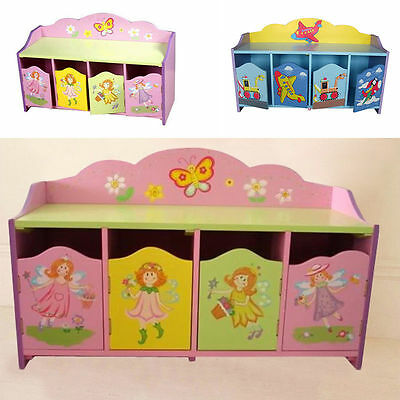 Girls Boys Children Furniture Kids Fairy Toy Organizer 4 Drawers Shoe Storage