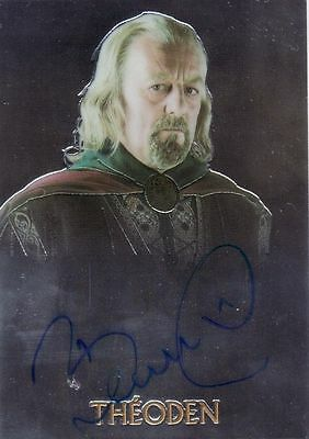 Lord of the Rings Trilogy Bernard Hill / Theoden Auto Card LotR