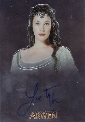 Lord of the Rings Trilogy Liv Tyler / Arwen Auto Card LotR