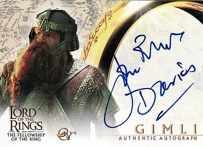 Lord of the Rings FotR John Rhys Davies / Gimli Auto Card LotR