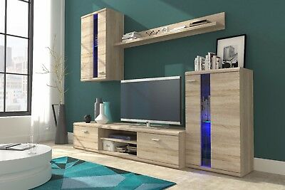 Bargain Contemporary Living Room Furniture Set Tv Unit Stand Display Cabinet