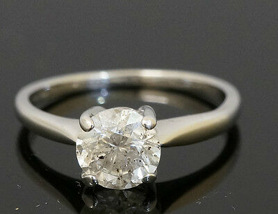 18Carat White Gold 1.00ct Diamond Solitaire Ring (Size L)