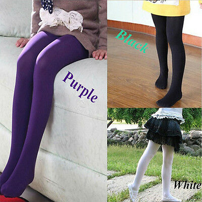 Hot Girls Kids Tights Lot Color Pantyhose Stockings Stretch Cotton Ballet Socks