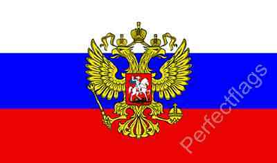 RUSSIA PRESIDENTIAL CREST FLAG - RUSSIAN NATIONAL FLAGS - Size 3x2, 5x3 Feet