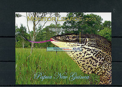 Papua New Guinea 2011 MNH Monitor Lizards 1v S/S Reptiles