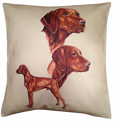 Hungarian Vizsla Group Cotton Cushion Cover - Cream or White Cover - Gift Item