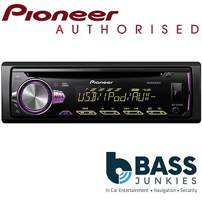 Pioneer DEH-S2000UI Single Din USB CD MP3 AUX In Car Stereo Player Blue Display