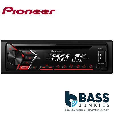 Pioneer DEH-S100UB Single Din USB CD MP3 AUX Car Stereo Player Red Display