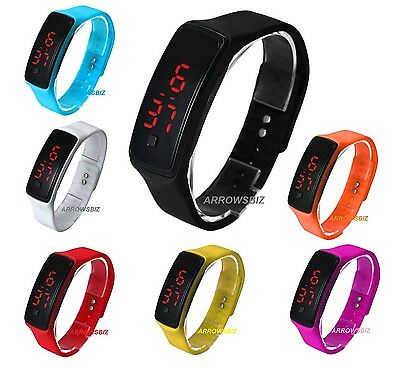 Digital LED Bracelet Touch Screen Wrist Watch Slim Ring for Boys Girls Men Women