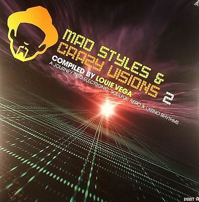 MAD STYLES & CRAZY VISIONS 2 Part A Compiled by LOUIE VEGA 2xVinyl LP Afro House