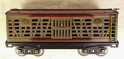 Lionel Pre-War Exceptional Early #213 Mohave & Maroon Cattle Car-Vg+ Orig!