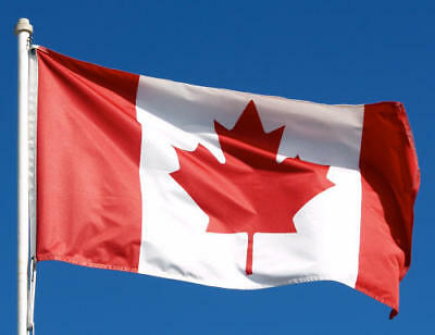 3x5 CANADA CANADIAN Super-Poly MAPLE LEAF In/Outdoor Flag Banner Flags *USA MADE