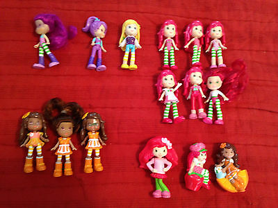 Lot os 15 Strawberry Shortcake And Friends Dolls Or Figures
