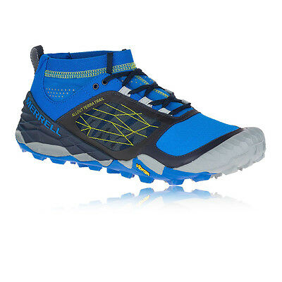 Merrell All Out Terra Mens Blue Black Trail Cushioned Running Shoes Trainers