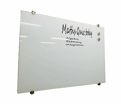 Glass White Board Magnetic WHITE 1200x900mm